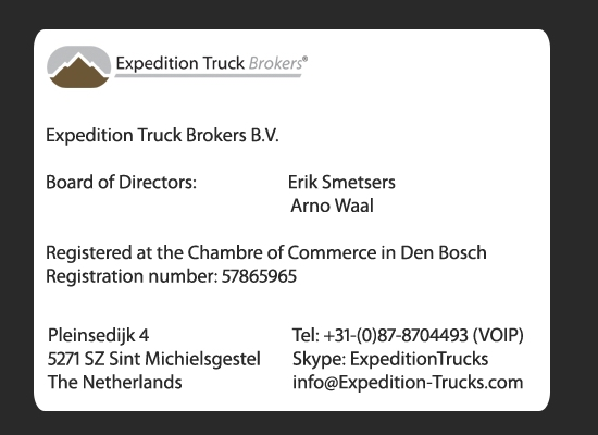 Expedition Truck Brokers Company Information