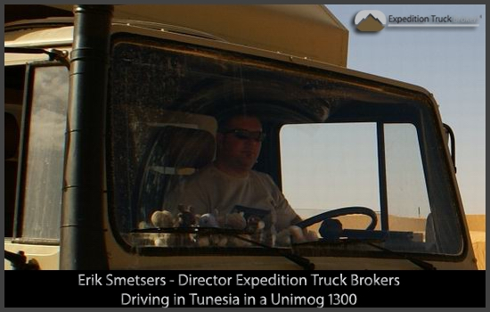 Expedition Truck Broker in a Unimog 1500L