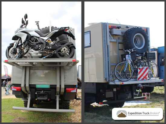 Bikes on Expedition Trucks - from heavy to light