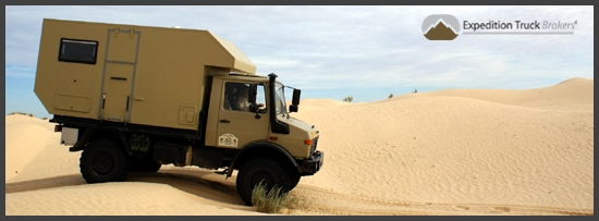 Expedition Truck Brokers - Desert drive in Tunesia
