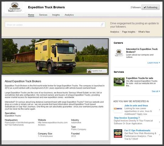 Expedition Truck Brokers on linkedin