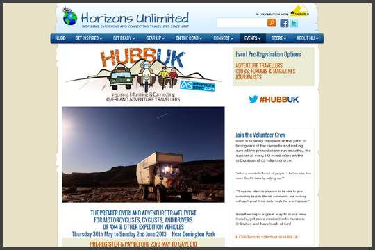 HUBBUK Overland Travel Event - the first edition in 2013