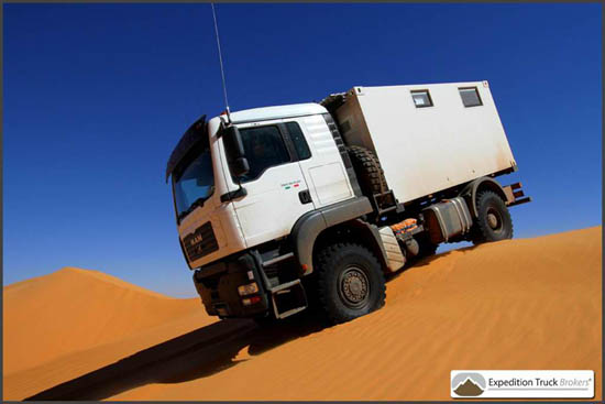 MAN TGA 4x4 Expedition Truck in the Desert