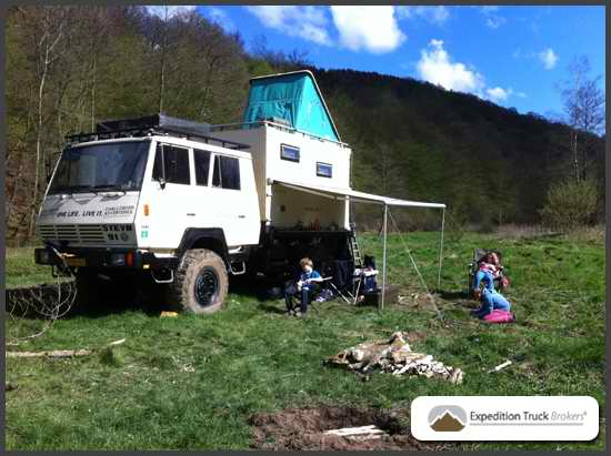 Steyr 1291 Expedition Truck camp